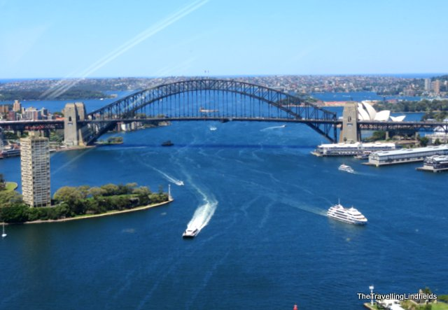 Sydney Harbour Bridge from above