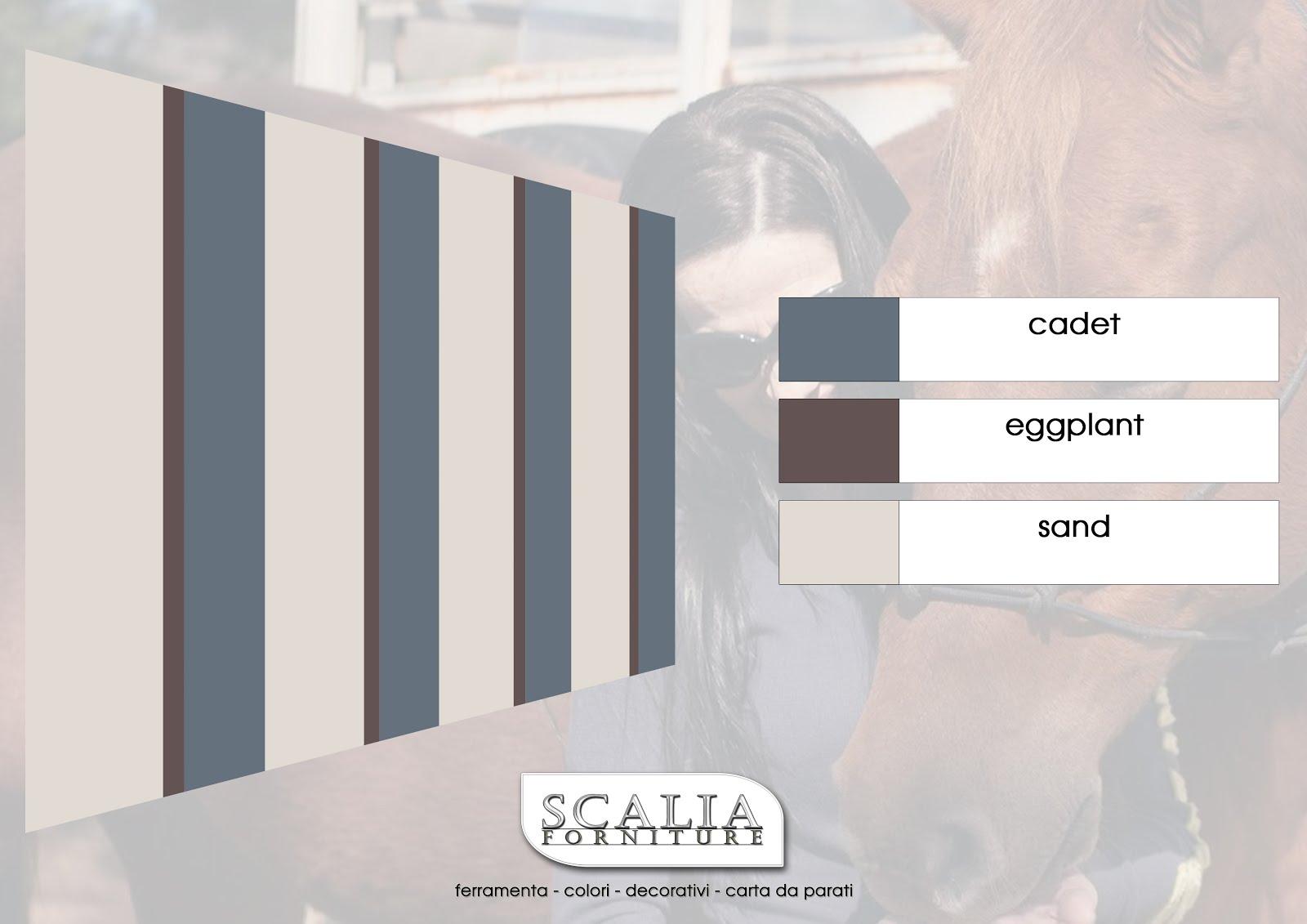 Pareti A Strisce Verticali : Scalia forniture tre colori per realizzare belle pareti a
