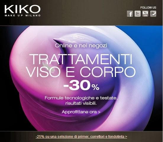 KIKO - Trattamenti viso e corpo -30%