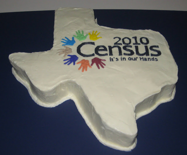 Texas Shaped Census Cake 1