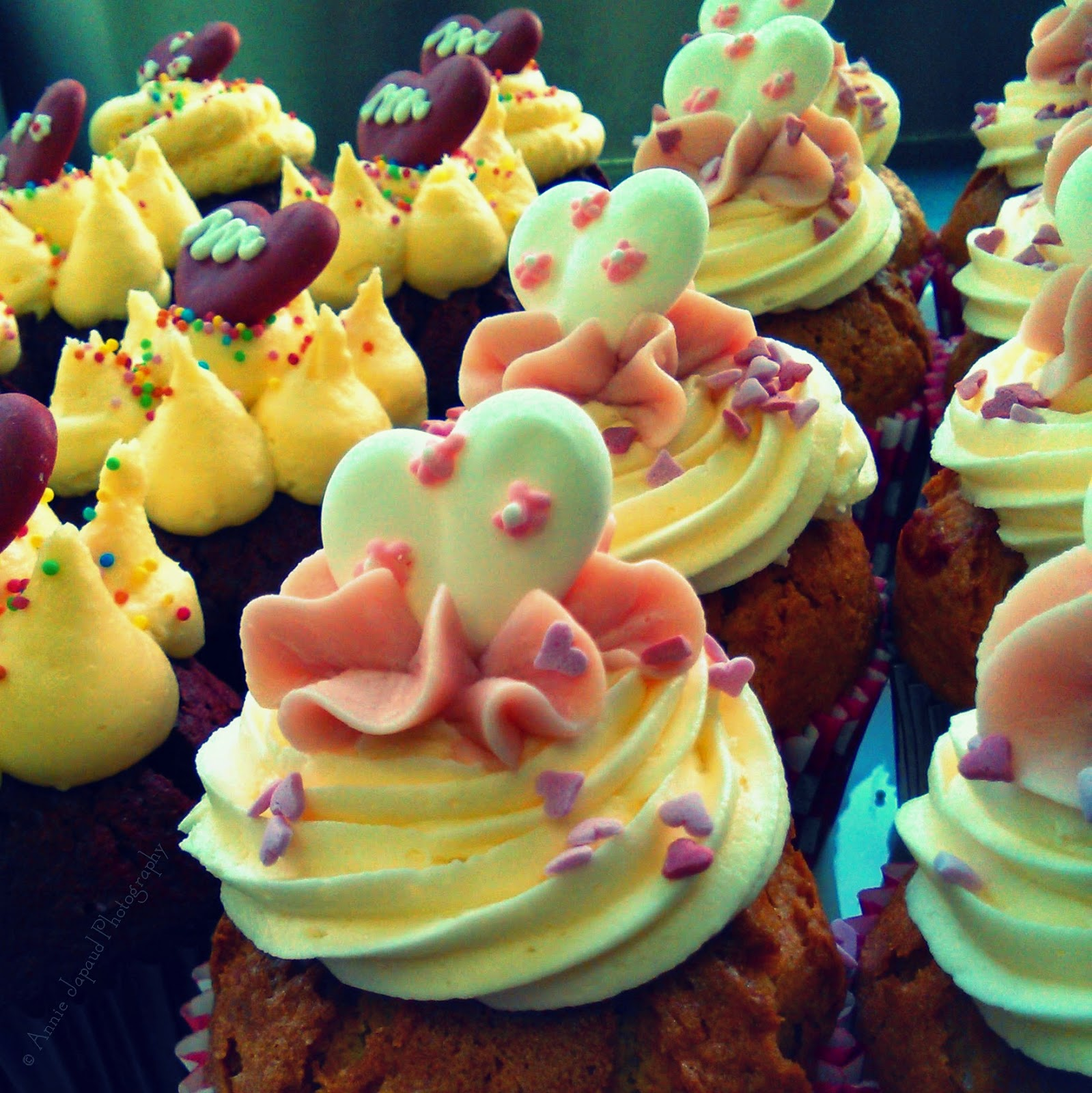 image of cupcakes with colourful fancy decoration