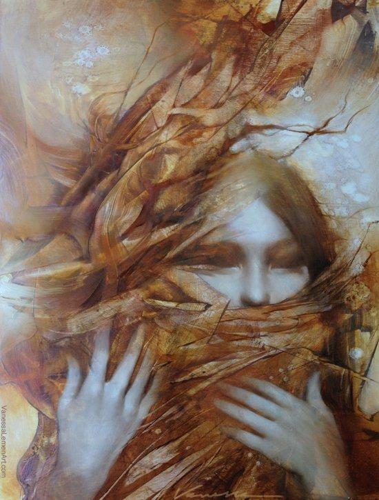 Vanessa Lemen pinturas tradicionais mulheres surreais impressionista