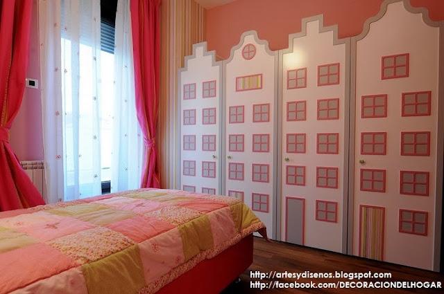 Dormitorio rosa con verde para una chica se orita for Decoracion hogar verde