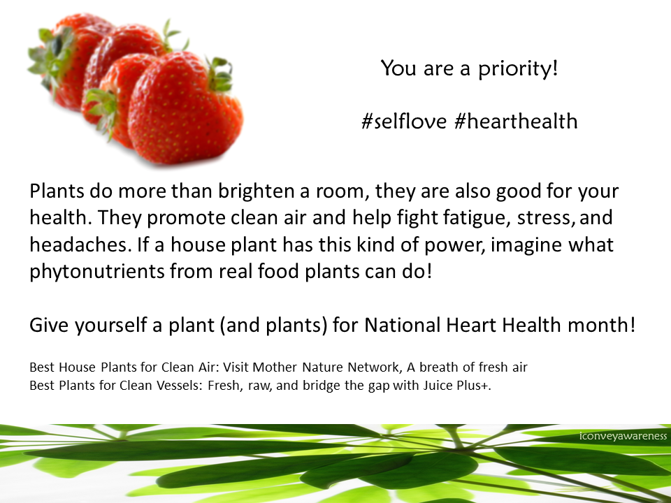 iConveyAwareness | Planted in Wellness | Give Yourself a Plant (and Plants) for National Heart Health Month