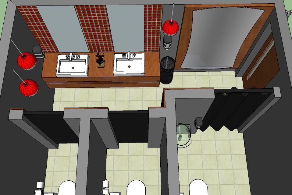 Arquitetando Ideias Banheiro feminino oriental -> Banheiro Feminino De Restaurante
