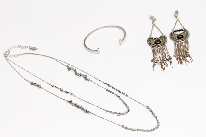 Collar pulseras brazaletes y pendientes estilo minimalista boho chic