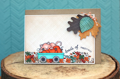 Loads of Happiness Wagon Card for Newton's Nook Designs