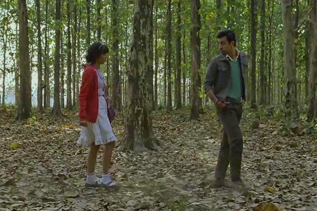 Barfi Movie Cute Ranbir & Priyanka Lovely Wallpaper