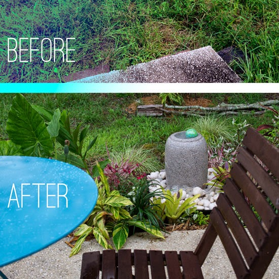 Backyard Before And After the rainforest garden: my backyard oasis makeover, before and after
