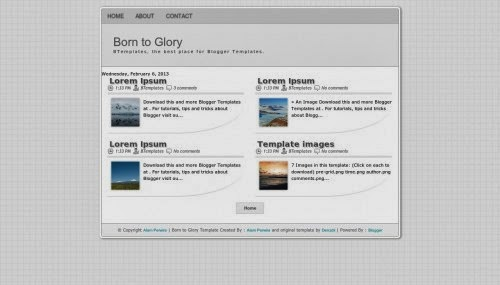 born to glory education blogger template 2014 for blogger or blogspot