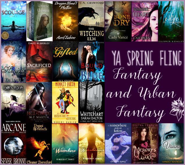 YA Spring Fling Giveaway Fantasy and Urban Fantasy header