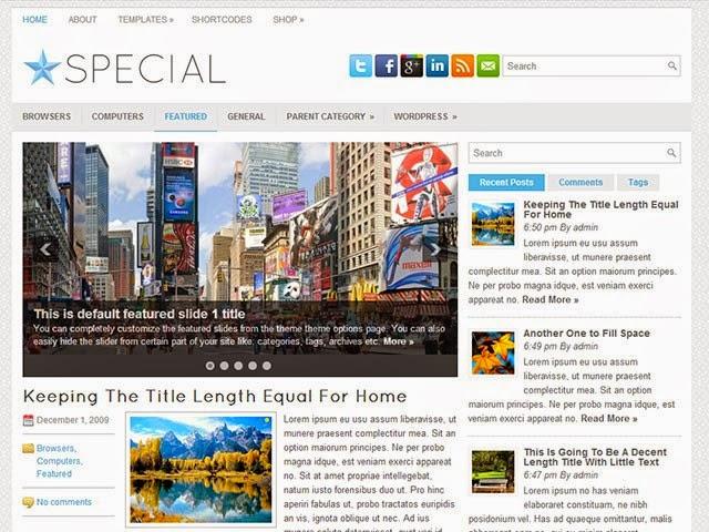Special - Free Wordpress Theme