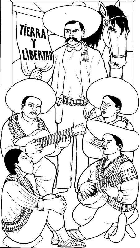 La Revolución Mexicana - Dibujos para Colorear  Ciclo Escolar