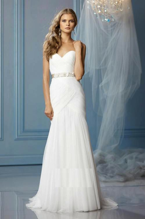 Simple Strapless Wedding Dresses Designs Photos HD