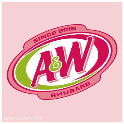 A&W Rhubarb, Rhubarb Root Beer, A&W Beer Logo, Pink
