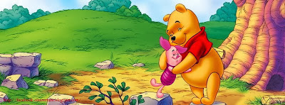 Couverture pour journale facebook winnie the pooh