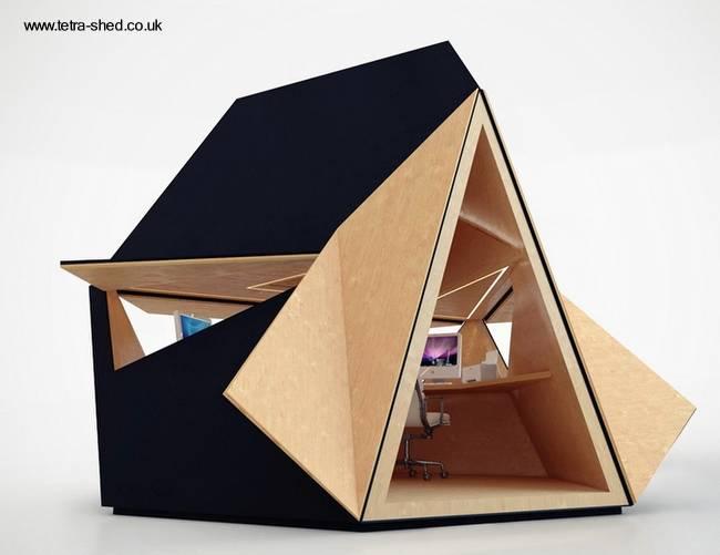 Arquitectura de casas casetas de jard n sirven como oficinas for Jardines pequenos para oficina