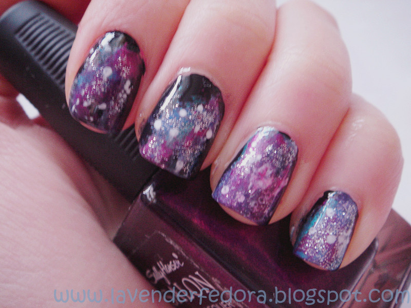 Lavender Fedora Nail Tutorial Galaxy Nails Quick And Easy