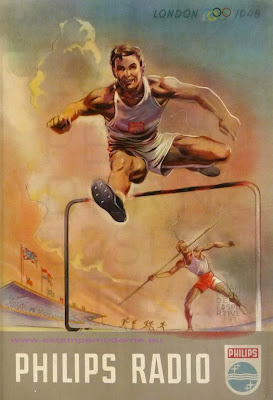 1948 Olympics advertising poster