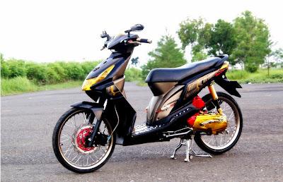 Modifikasi Motor Honda Beat Hitam