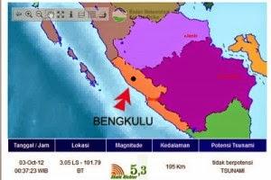 Gempa 5,1 skala Richter di Bengkulu Selatan