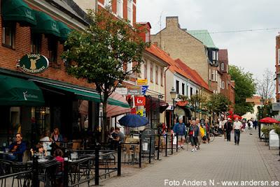 stora östergatan, gågata, ystad, wallander, mankell, foto anders n