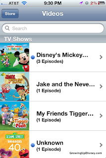 Disney shows on iPhone