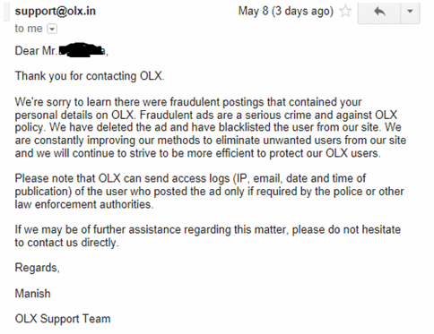 Olx Customer Servce