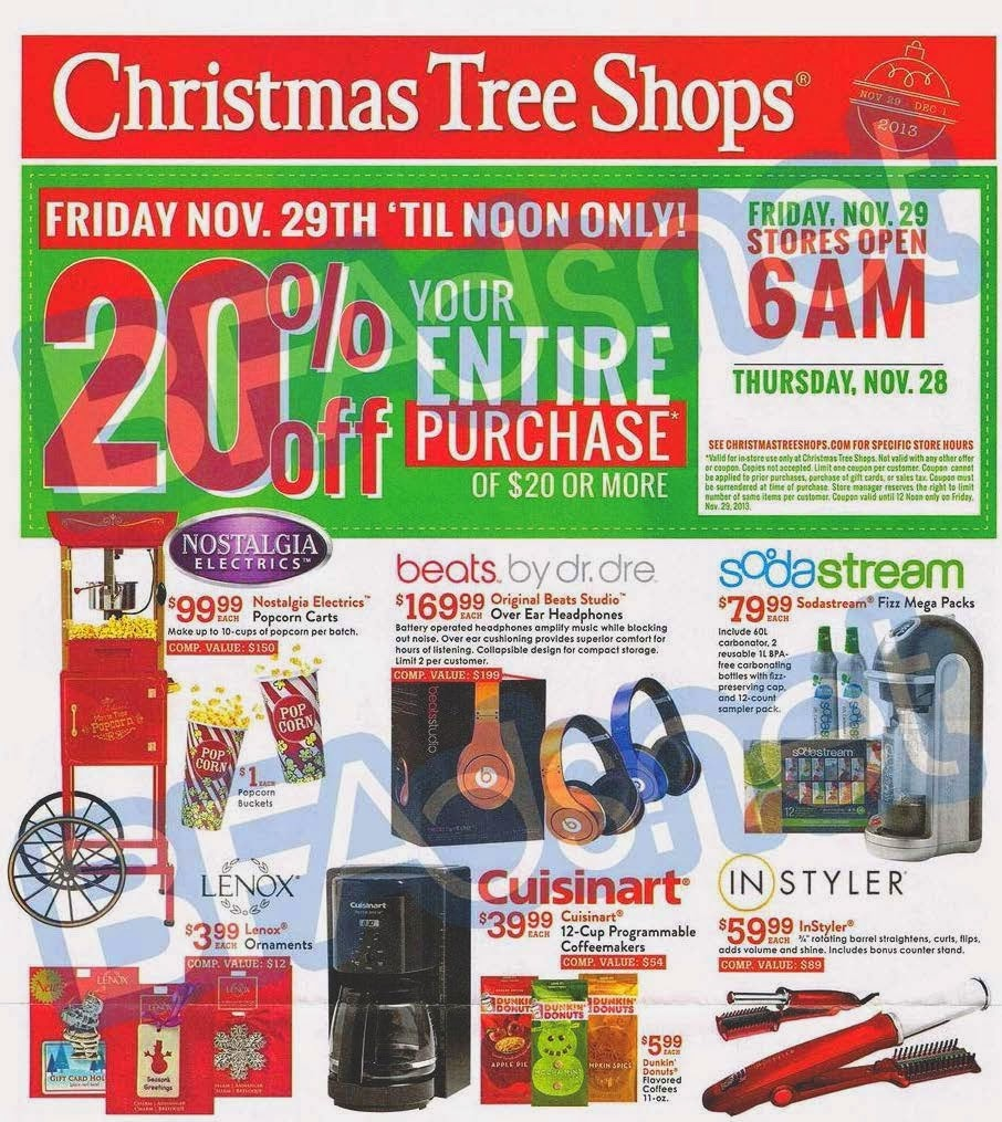 Christmas Tree Shops Tips & Tricks: If you subscribe to their newsletter you will receive a coupon for $10 on an in store purchase of $50 or more, along with special offers and coupons via email. Christmas Tree Shops' website has a clearance tab that will send you straight to their marked down items.