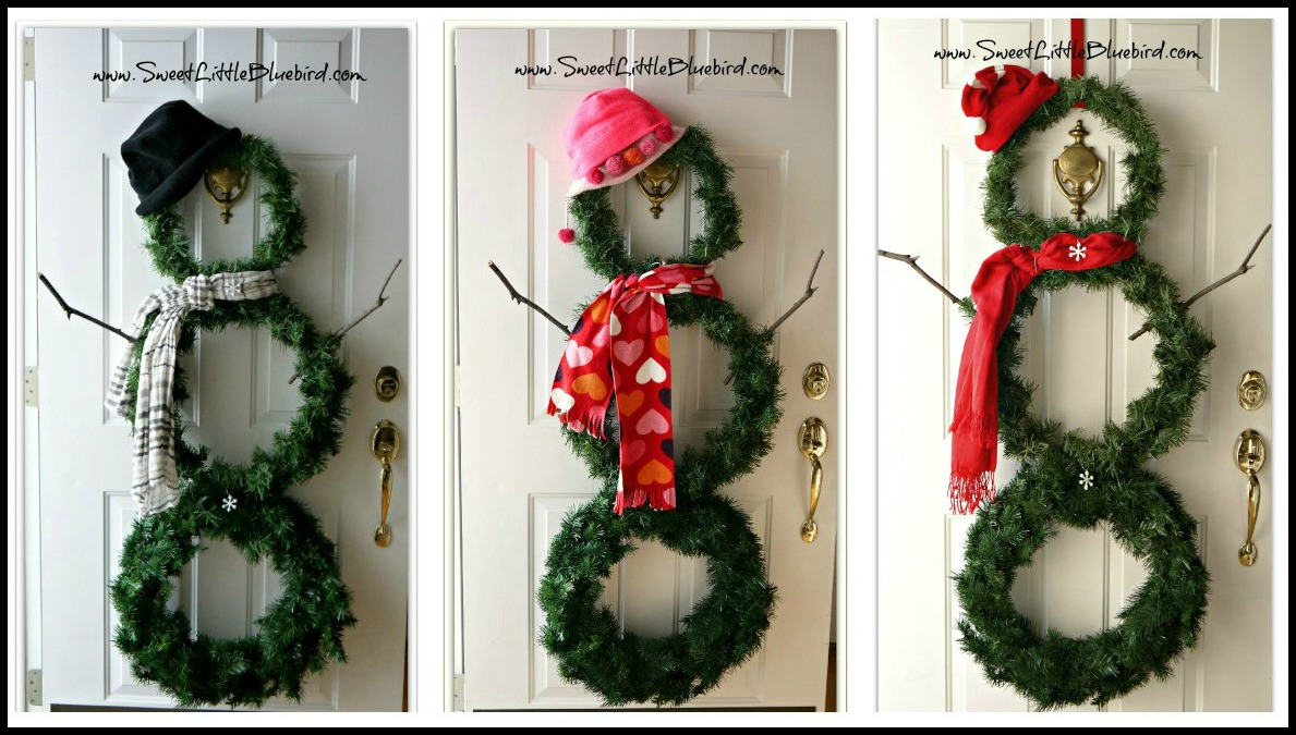 Of Wreaths Sweet Little Bluebird Diy Versatile Snowman Wreath For Winter Decor