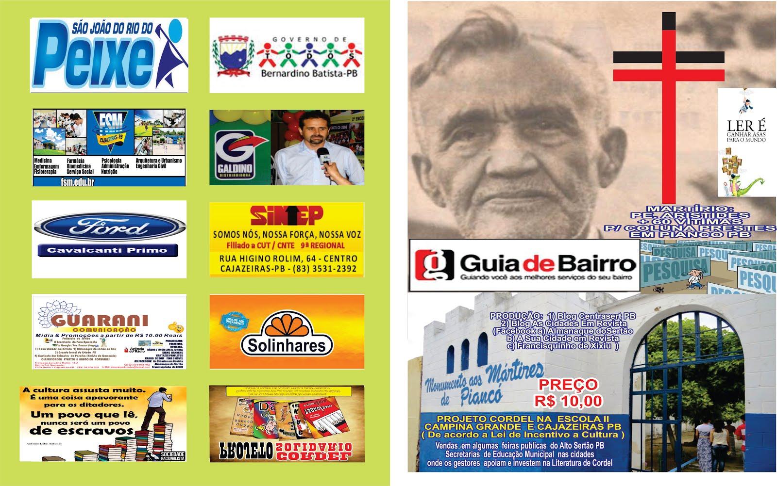 CARTILHA  DO PADRE ARISTIDES DE PIANCO UMA  TERCEIRA  TIRAGEM PARA AS ESCOLAS