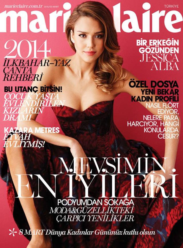 Jessica Alba para Marie Claire Magazine Turquía marzo 2014