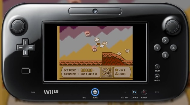 Playing Kirby's Adventure on the Wii U GamePad