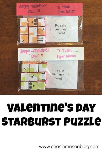 Chasin' Mason : Valentine's Day Starburst Puzzle