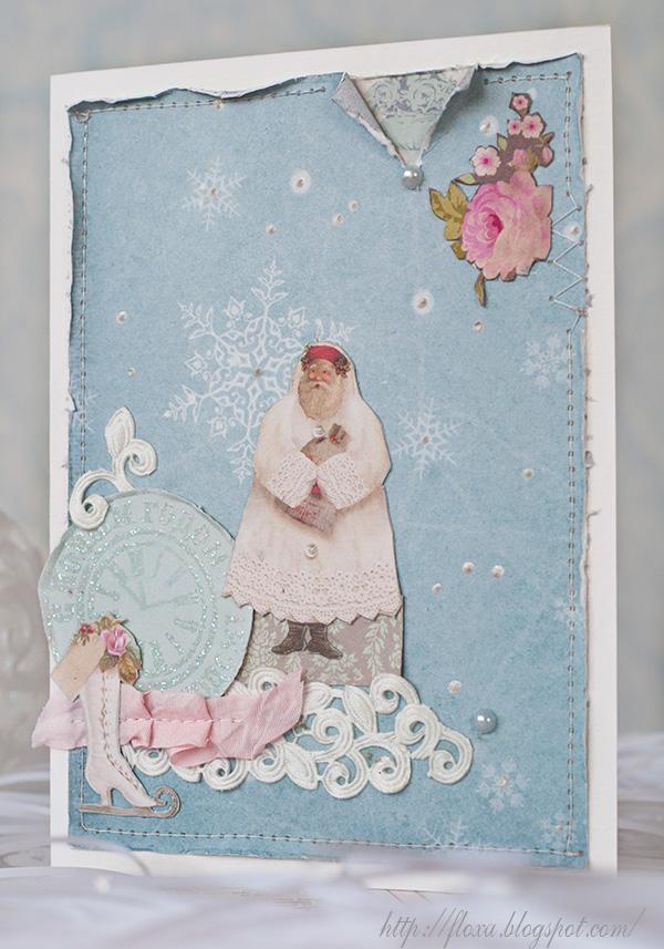 открытка тильда, откытка с новым годом, открытка своими руками, красивая открытка