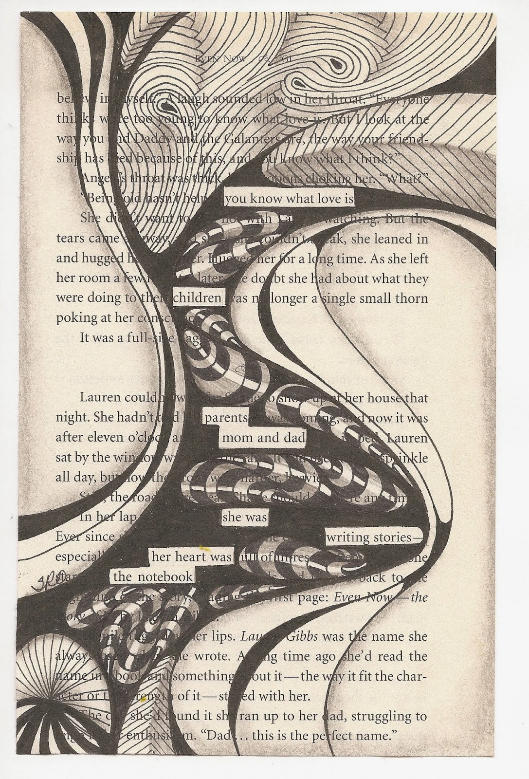 Suzen Art Blackout Poetry Great Fun