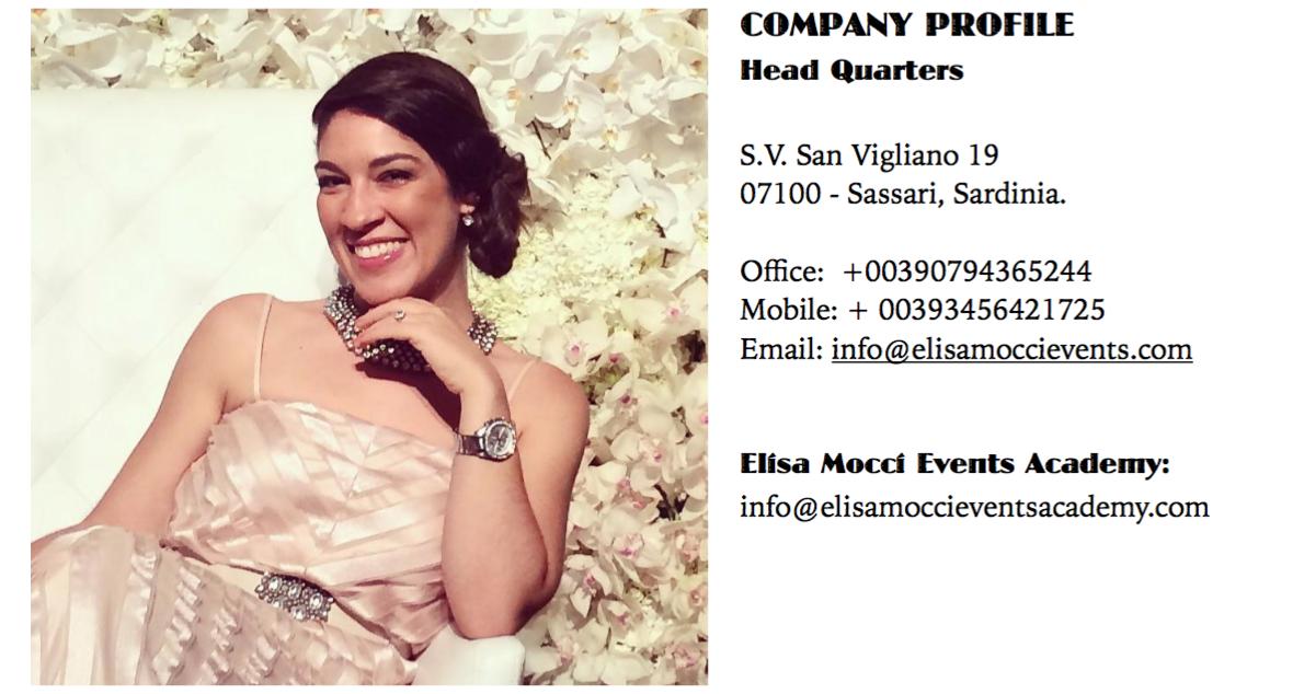 Elisa Mocci | Wedding Planner & Designer