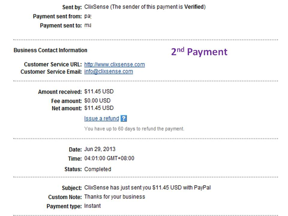 payment proof clixsense