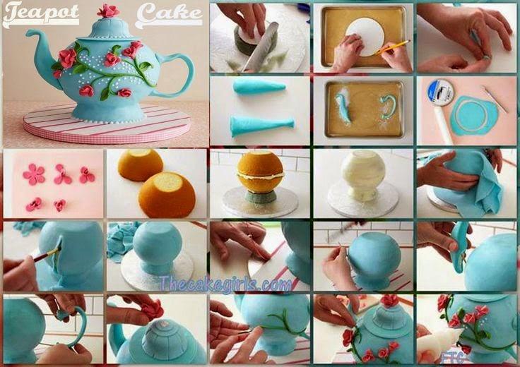 Como Fazer Bolo Pasta Americana Bule Chá de Cozinha