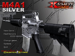 X-Shot M4A1 Silver Background