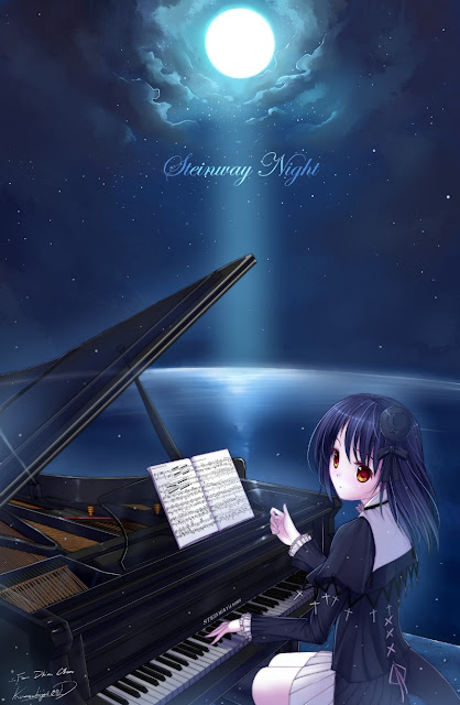 caidychen piano anime