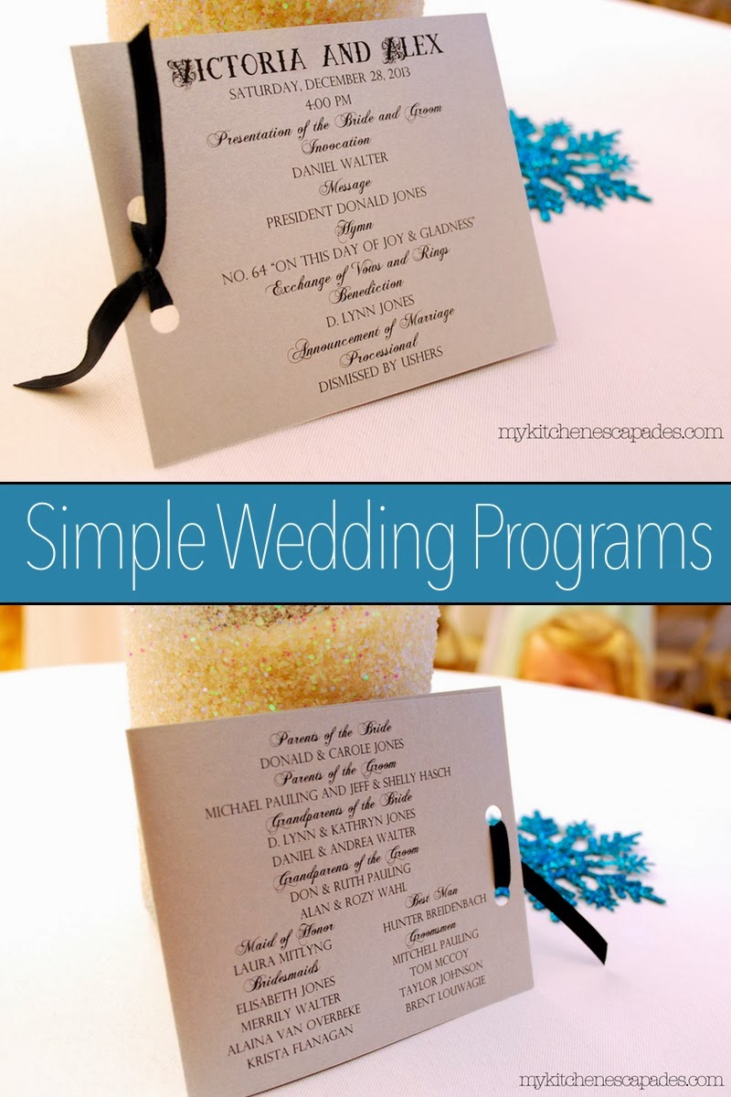 Simple Wedding Programs