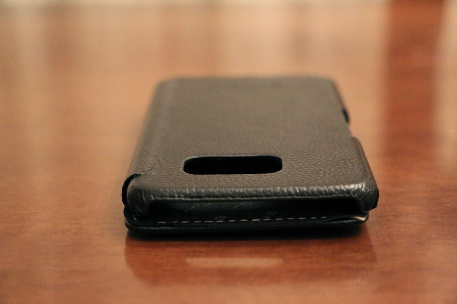 StilGut custodia Galaxy S6 modello Book Type nera vista laterale 2