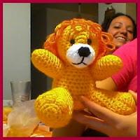 Amistoso león amigurumi