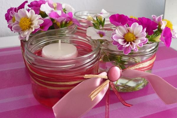Zauberhafte Welten Schnelle Deko Blumen Gl Ser Und Kerzen
