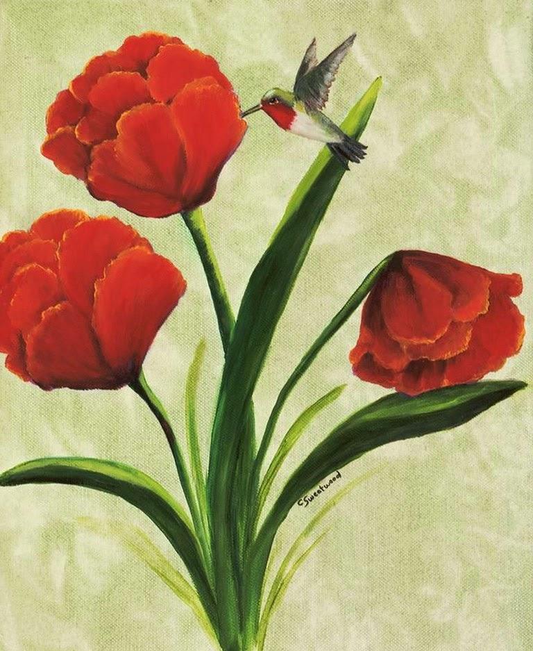 flores-rojas-en-pinturas