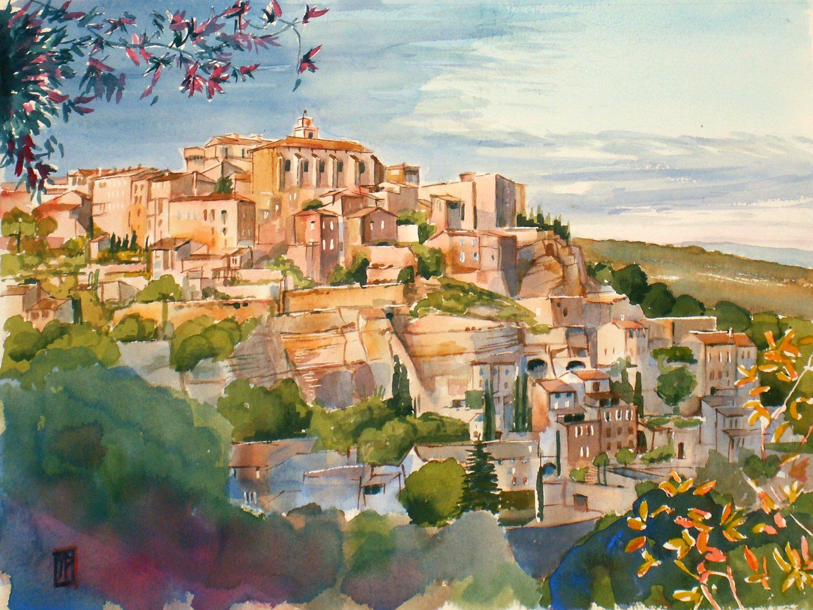 Aquarelles yves pothier lumi re d 39 automne en lub ron for Peinture du liberon