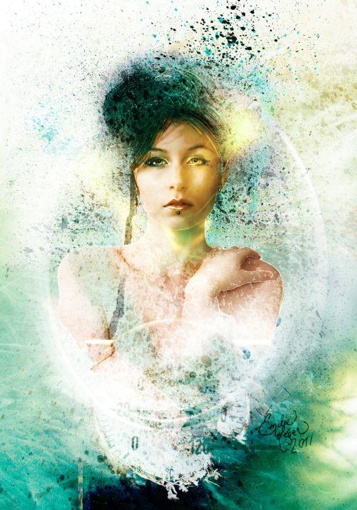 emilie leger foto manipulação digital surreal mulheres modelos sombria Camafeu