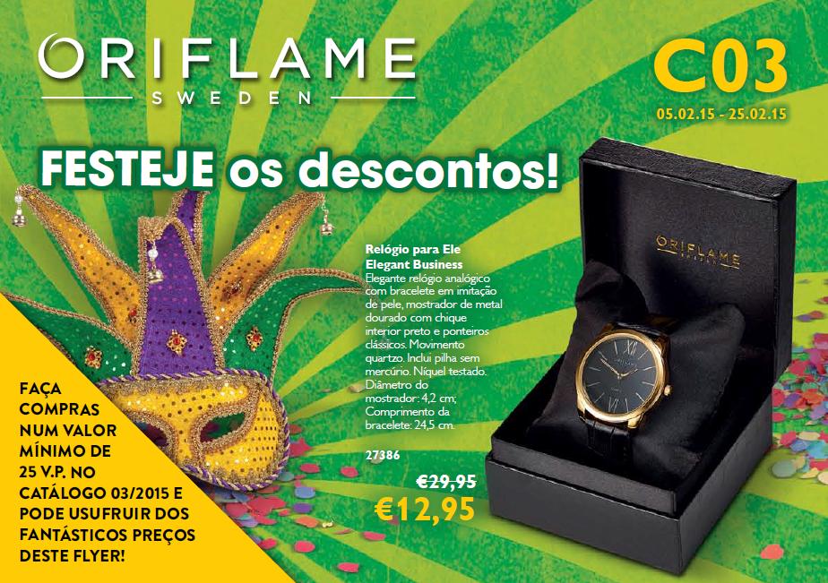 Flyer Oriflame do Catálogo 03 de 2015