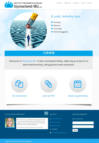 Hjemmesider til Styrearbeid IBU